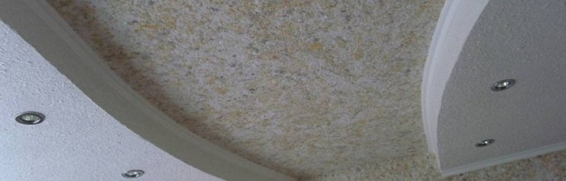 Жидкие обои для потолка — виды, особенности, нанесение