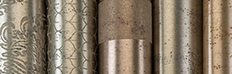 Металлические обои для стен — виды, особенности поклейки