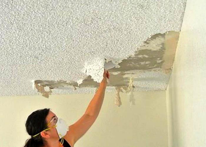 Недостатки жидких обоев для потолка