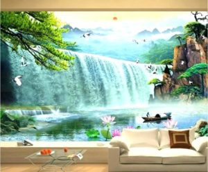 Стереоскопические обои для стен – 3д завораживающий узор, фото в интерьере